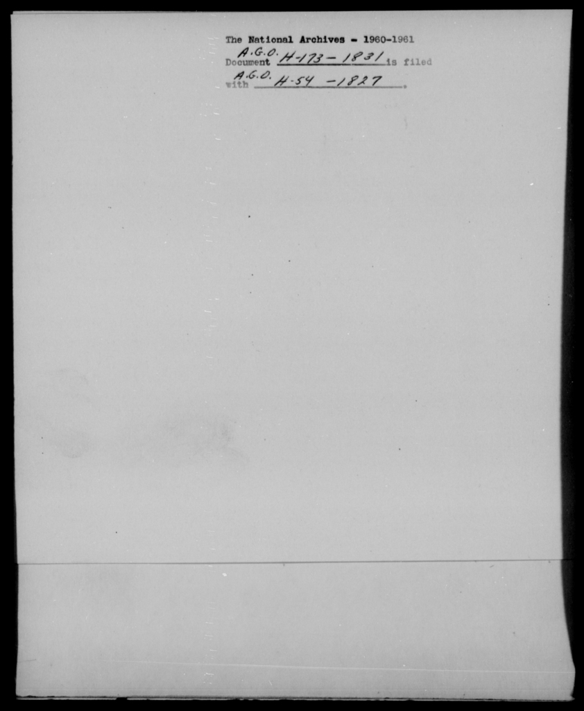 [Blank], [Illegible] - State: [Blank] - Year: 1831 - File Number: H173