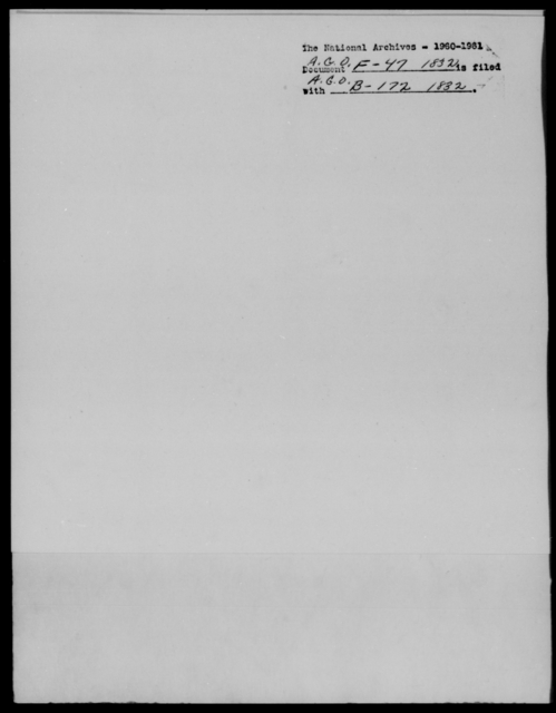 [Blank], [Illegible] - State: [Blank] - Year: 1832 - File Number: F47