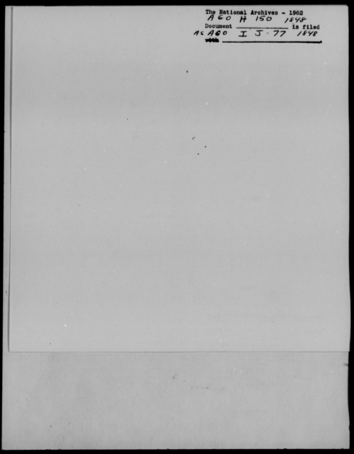[Blank], Jno - State: [Blank] - Year: 1848 - File Number: H150
