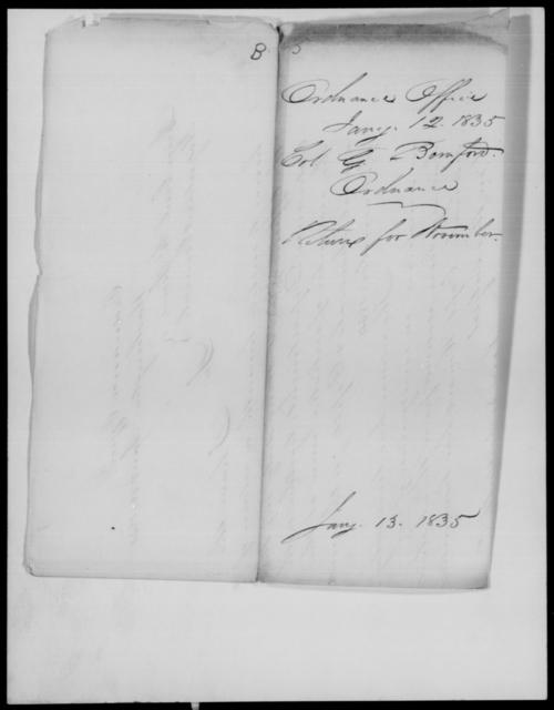 Bornford, G - State: [Blank] - Year: 1835 - File Number: B5