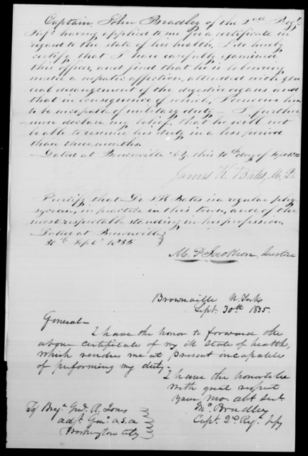Bradley, Jno - State: New York - Year: 1835 - File Number: B333