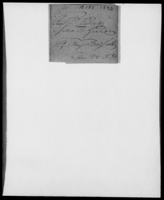 Brady, P - State: [Blank] - Year: 1830 - File Number: B181