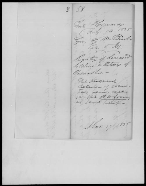 Brooke, Geo M - State: Alabama - Year: 1835 - File Number: B58