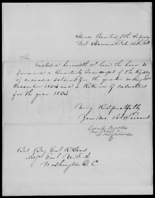 Brooke, Geo M - State: [Blank] - Year: 1835 - File Number: B58