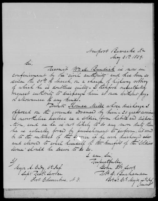 Buchanan, [Blank] - State: Kentucky - Year: 1859 - File Number: B173