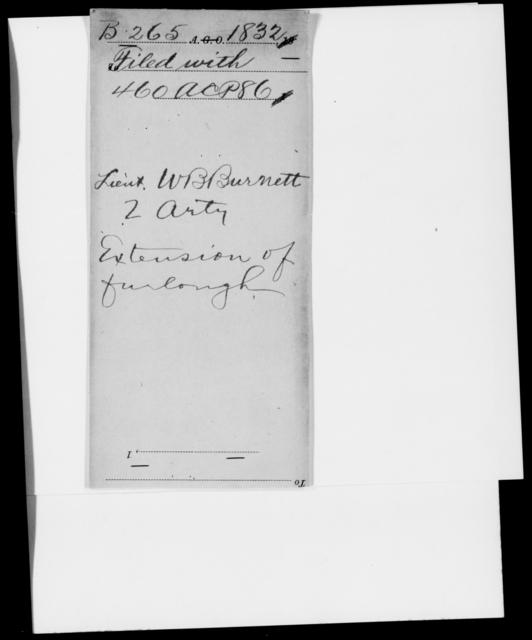 Burnett, W B - State: [Blank] - Year: 1832 - File Number: B265