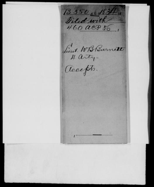 Burnett, W B - State: [Blank] - Year: 1834 - File Number: B350