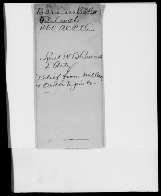 Burnett, W B - State: [Blank] - Year: 1834 - File Number: B385