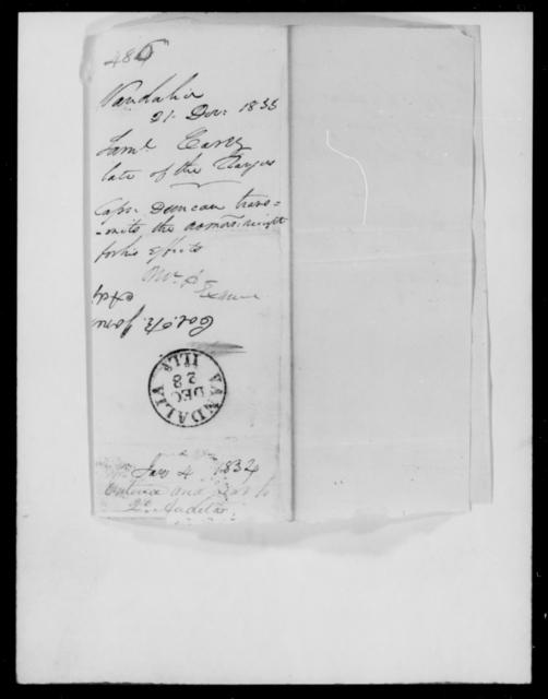 Carey, Saml - State: [Blank] - Year: 1833 - File Number: C486