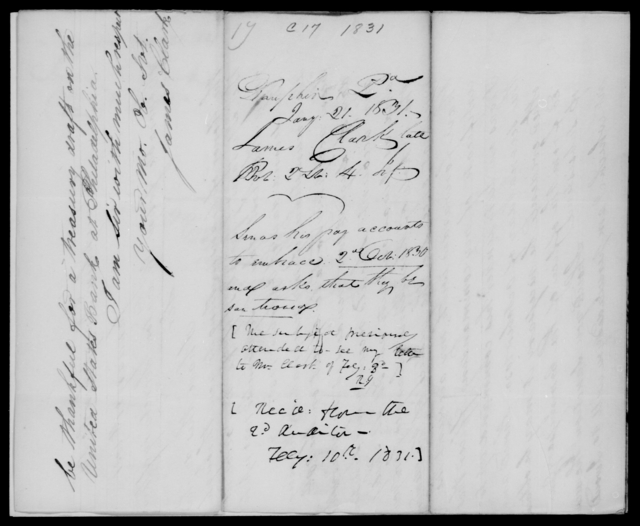 Clark, James - State: Pennsylvania - Year: 1831 - File Number: C17
