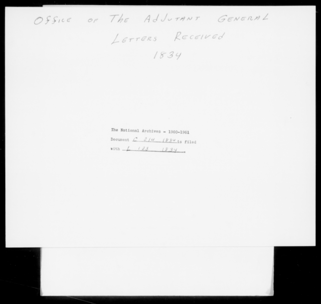 Crane, [Blank] - State: New York - Year: 1834 - File Number: C214