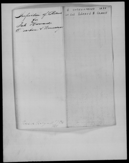 Crane, Ichabod A - State: New York - Year: 1835 - File Number: [Blank]