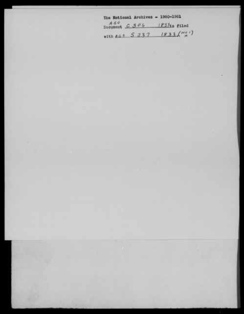Crane, J B - State: [Blank] - Year: 1833 - File Number: C306