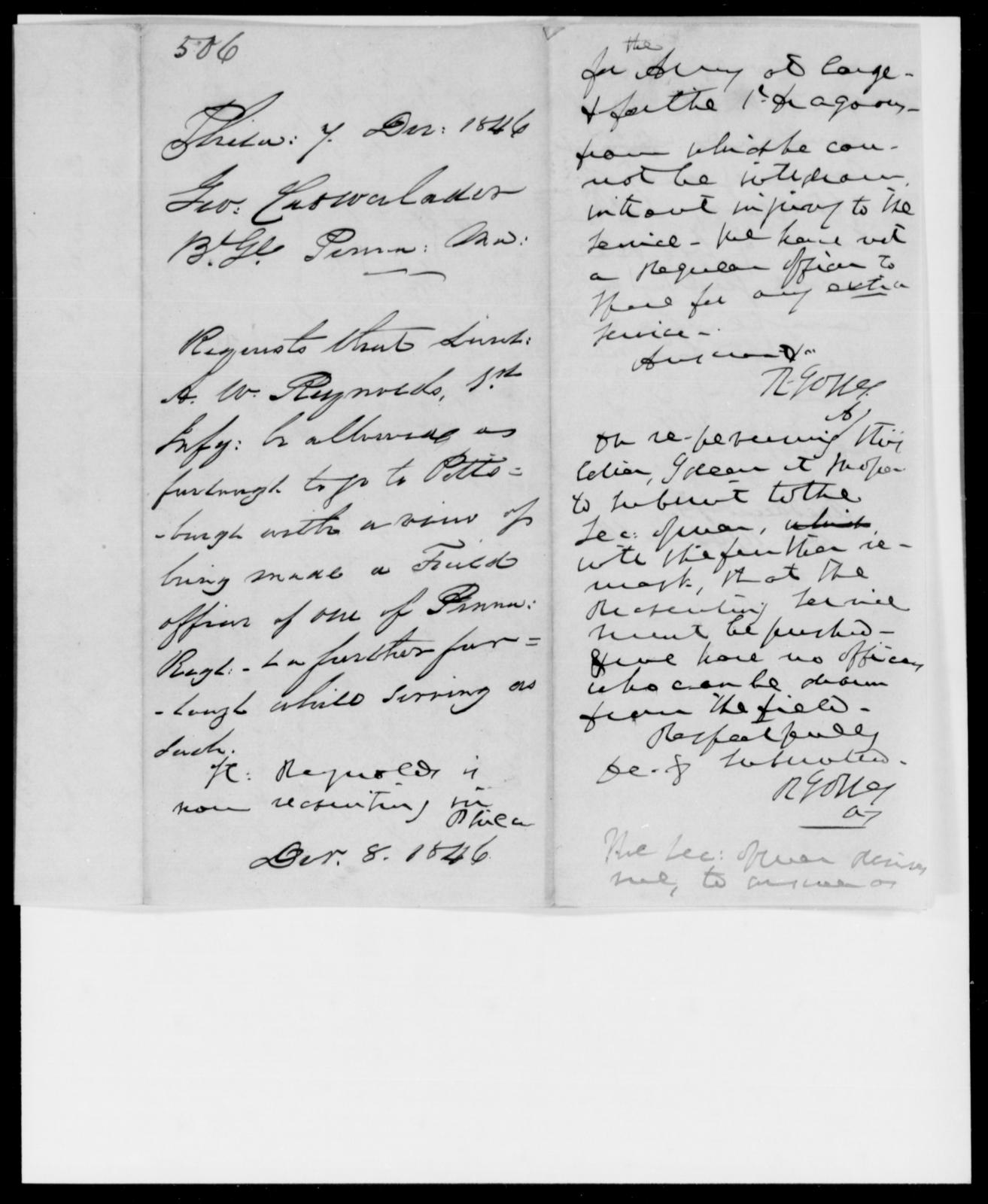 Crowalander, Geo - State: [Blank] - Year: 1846 - File Number: C506