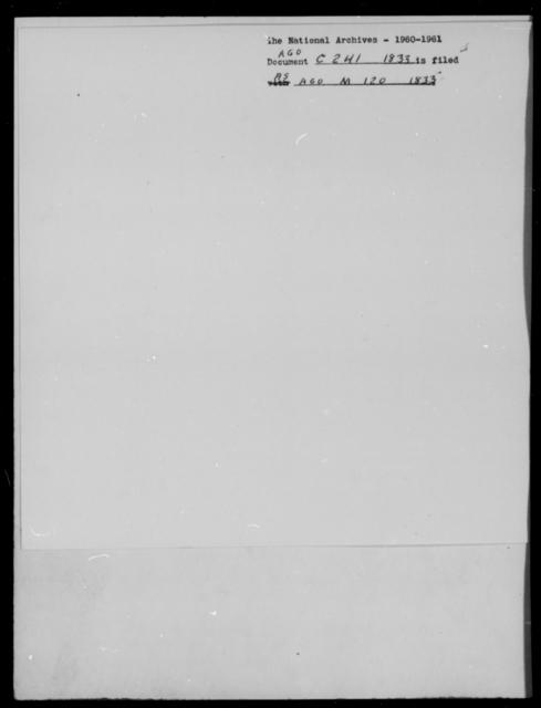 Cummings, H - State: [Blank] - Year: 1833 - File Number: C241