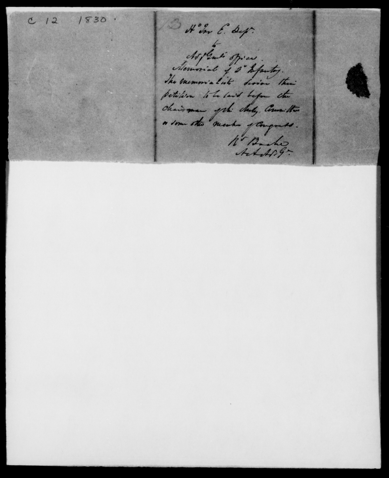 Cummings, Henry - State: [Blank] - Year: 1830 - File Number: C12
