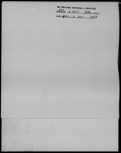Cutler, E - State: New York - Year: 1835 - File Number: C467