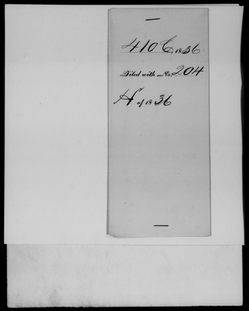 Cutler, E - State: New York - Year: 1836 - File Number: C410