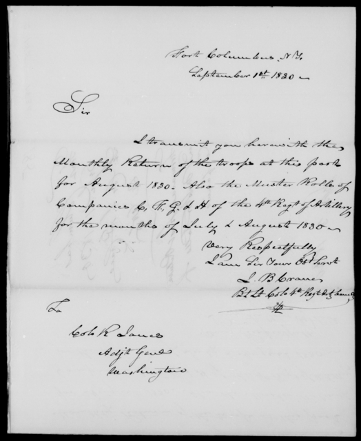 Cutler, J B - State: [Blank] - Year: 1830 - File Number: C185
