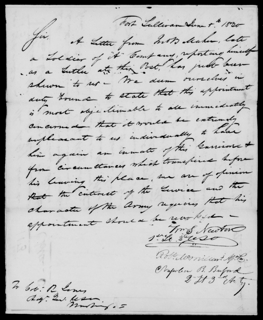 Cutler, Th - State: [Blank] - Year: 1830 - File Number: C113