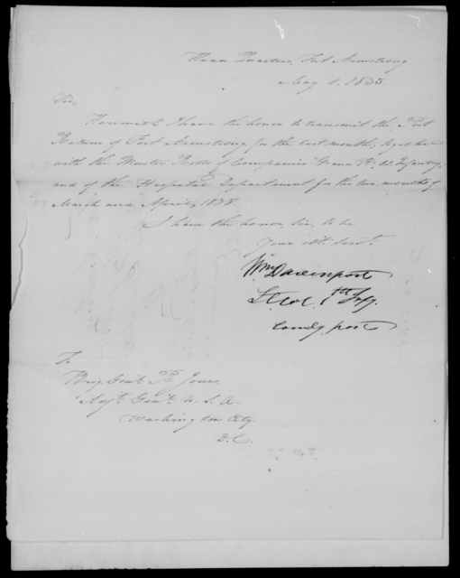 Davenport, [Blank] - State: [Blank] - Year: 1835 - File Number: D92