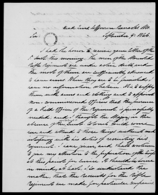 Davenport, Wm - State: Missouri - Year: 1846 - File Number: D218