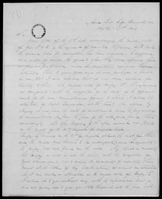Davenport, Wm - State: Missouri - Year: 1846 - File Number: D251