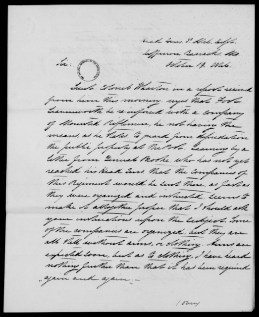 Davenport, Wm - State: Missouri - Year: 1846 - File Number: D253