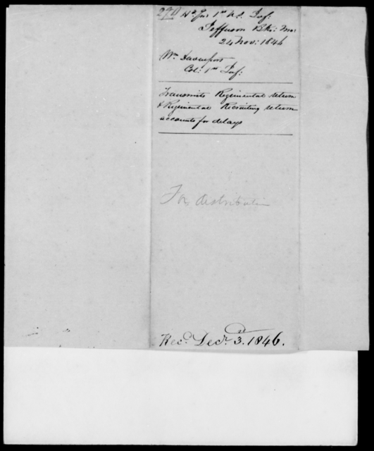 Davenport, Wm - State: Missouri - Year: 1846 - File Number: D290