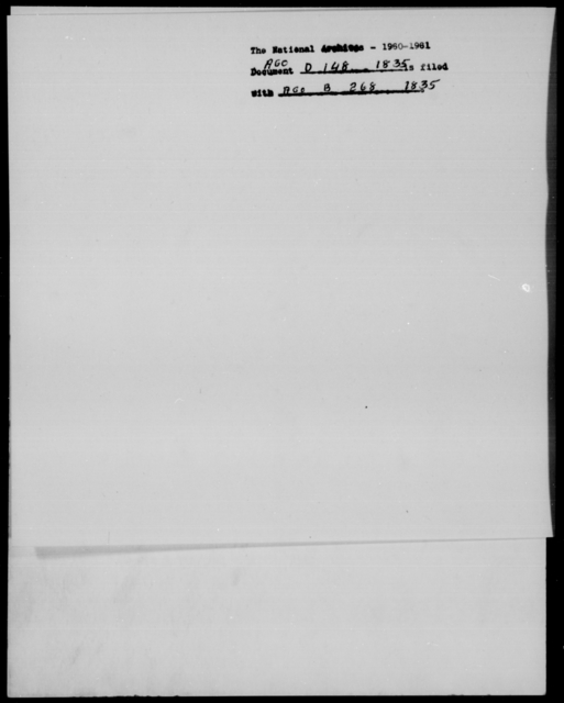 Davidson, W B - State: [Blank] - Year: 1835 - File Number: D148