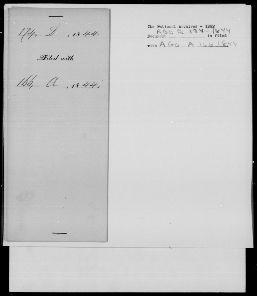 Deas, E - State: Virginia - Year: 1844 - File Number: D174