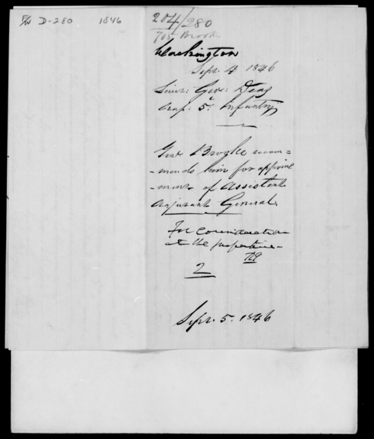 Deas, George - State: Washington - Year: 1846 - File Number: D280