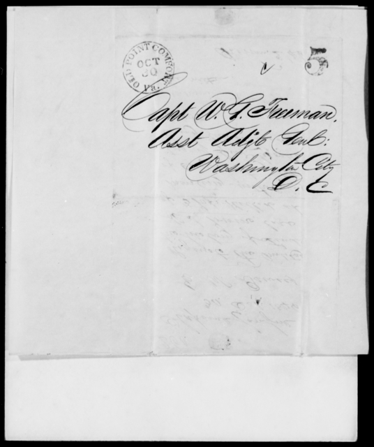 Dewees, E W - State: District of Columbia - Year: 1846 - File Number: D260