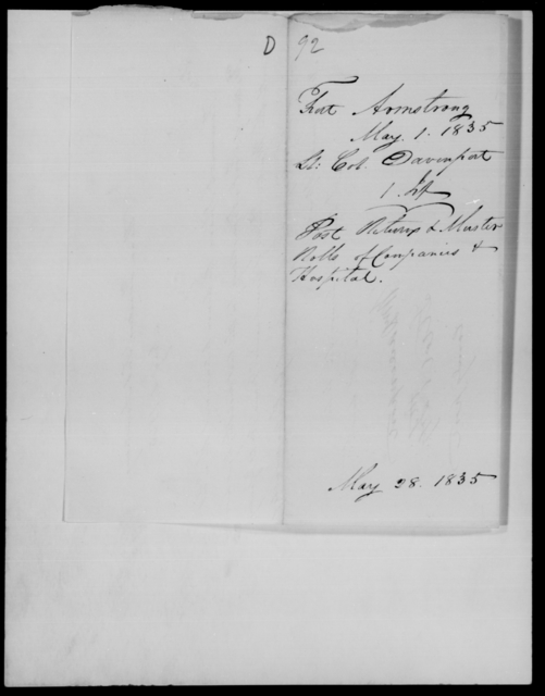 Dodge, [Blank] - State: [Blank] - Year: 1835 - File Number: D92