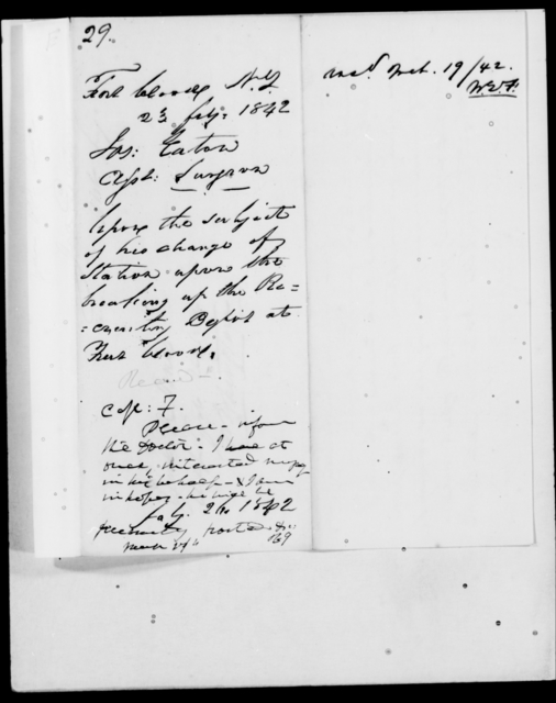 Eaton, Jas - State: New York - Year: 1842 - File Number: E29