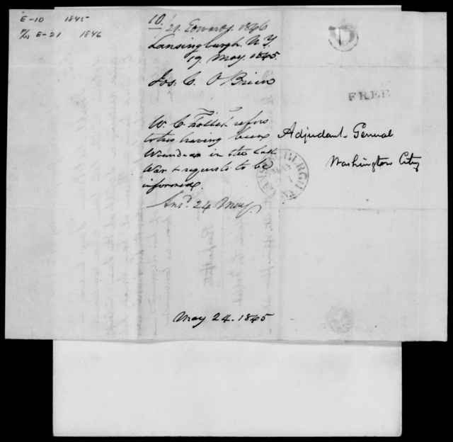 Edwards, Jas L - State: New York - Year: 1846 - File Number: E21