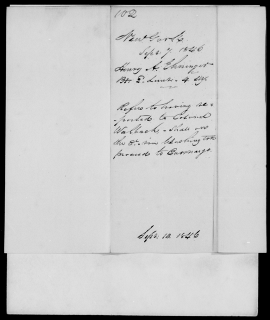 Ehninger, Henry A - State: New York - Year: 1846 - File Number: E102