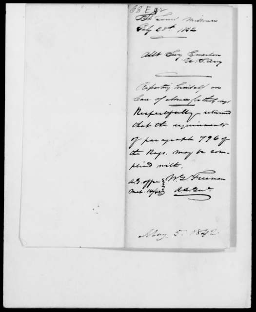 Emerson, [Blank] - State: Missouri - Year: 1842 - File Number: E68
