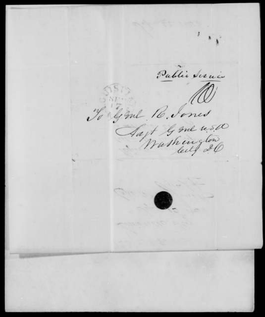 Erving, J - State: District of Columbia - Year: 1846 - File Number: E109