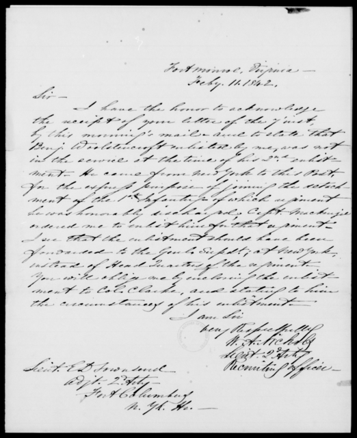 Erving, J - State: Virginia - Year: 1842 - File Number: E32