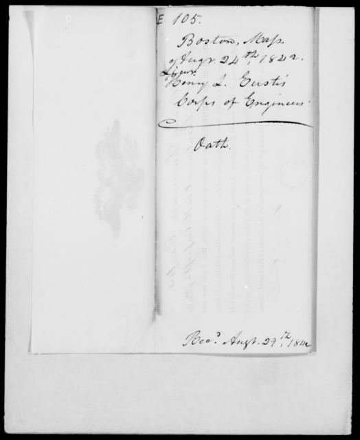 Eustis, Henry L - State: Massachusetts - Year: 1842 - File Number: E105