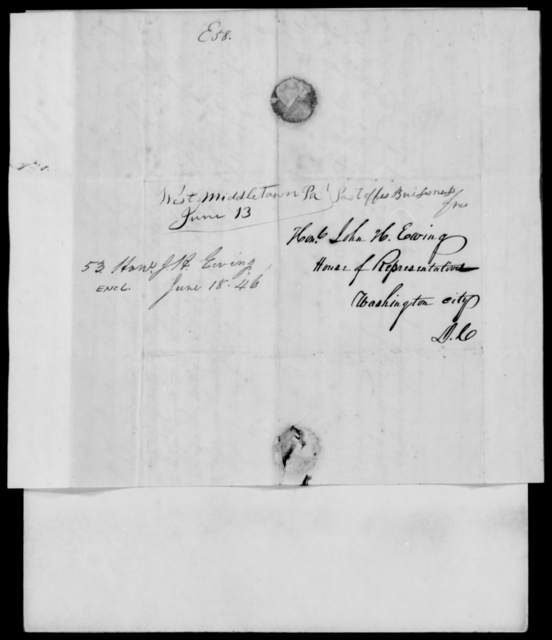 Ewing, John H - State: District of Columbia - Year: 1846 - File Number: E53