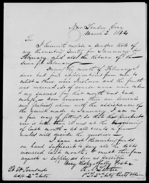 Fanning, A C W - State: Connecticut - Year: 1842 - File Number: F49