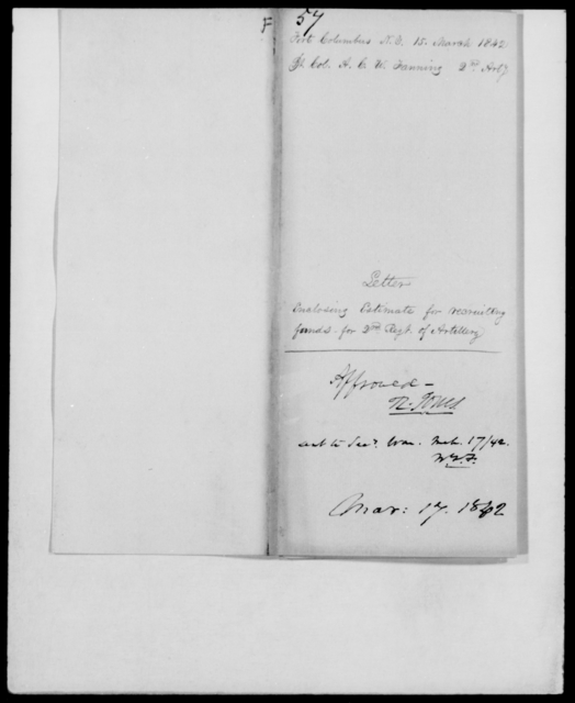 Fauntleroy, A C W - State: New York - Year: 1842 - File Number: F57