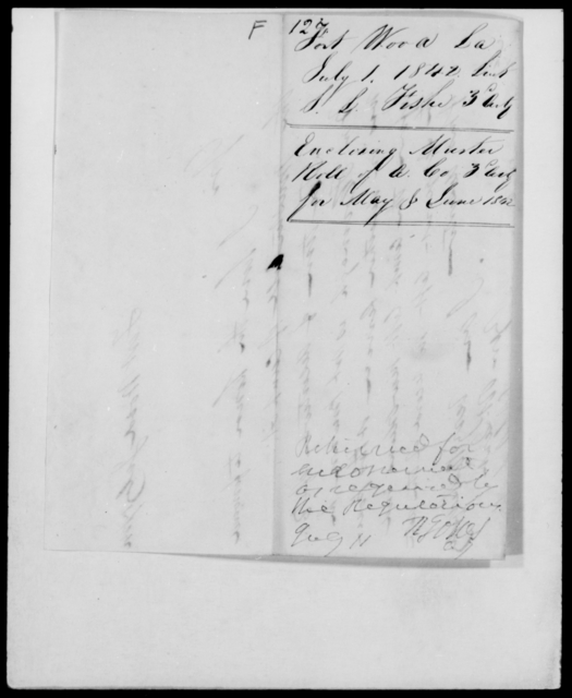 Fish, J L - State: Louisiana - Year: 1842 - File Number: F127