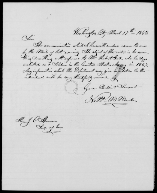 Ford, Robert - State: Washington - Year: 1842 - File Number: F59