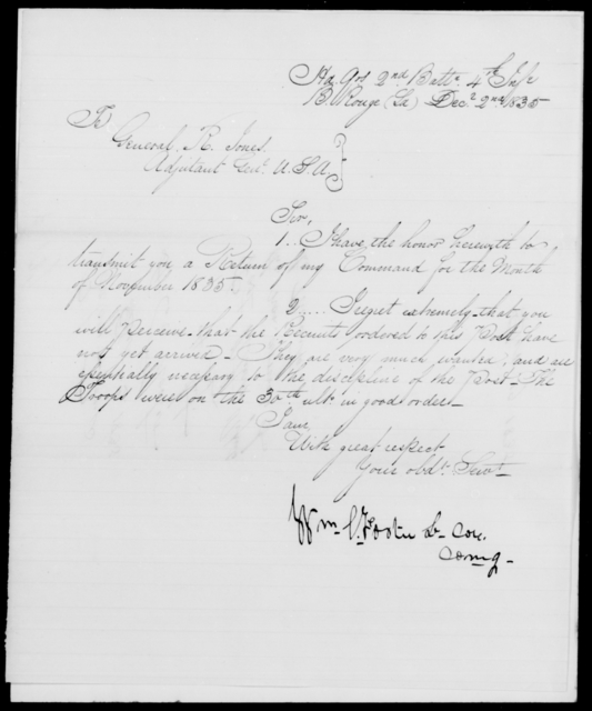 Foster, Wm L - State: Louisiana - Year: 1835 - File Number: F127