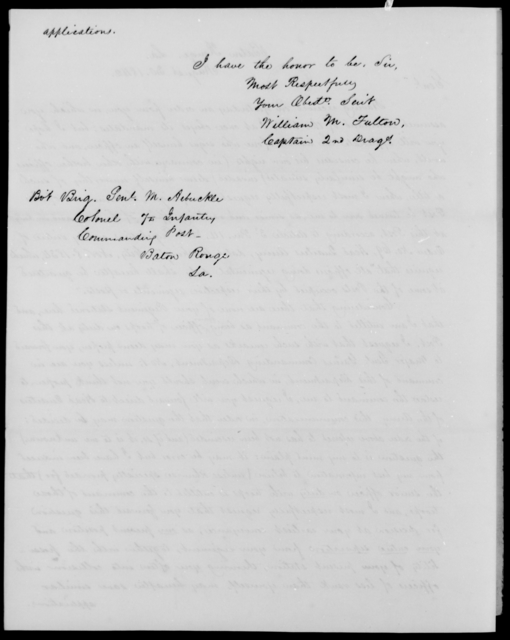 Fulton, William M - State: [Blank] - Year: 1842 - File Number: F143