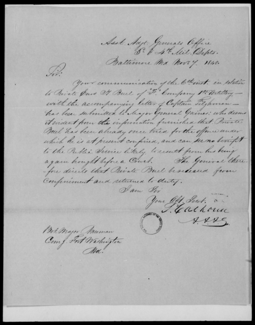 Gaines, [Blank] - State: Maryland - Year: 1848 - File Number: G532