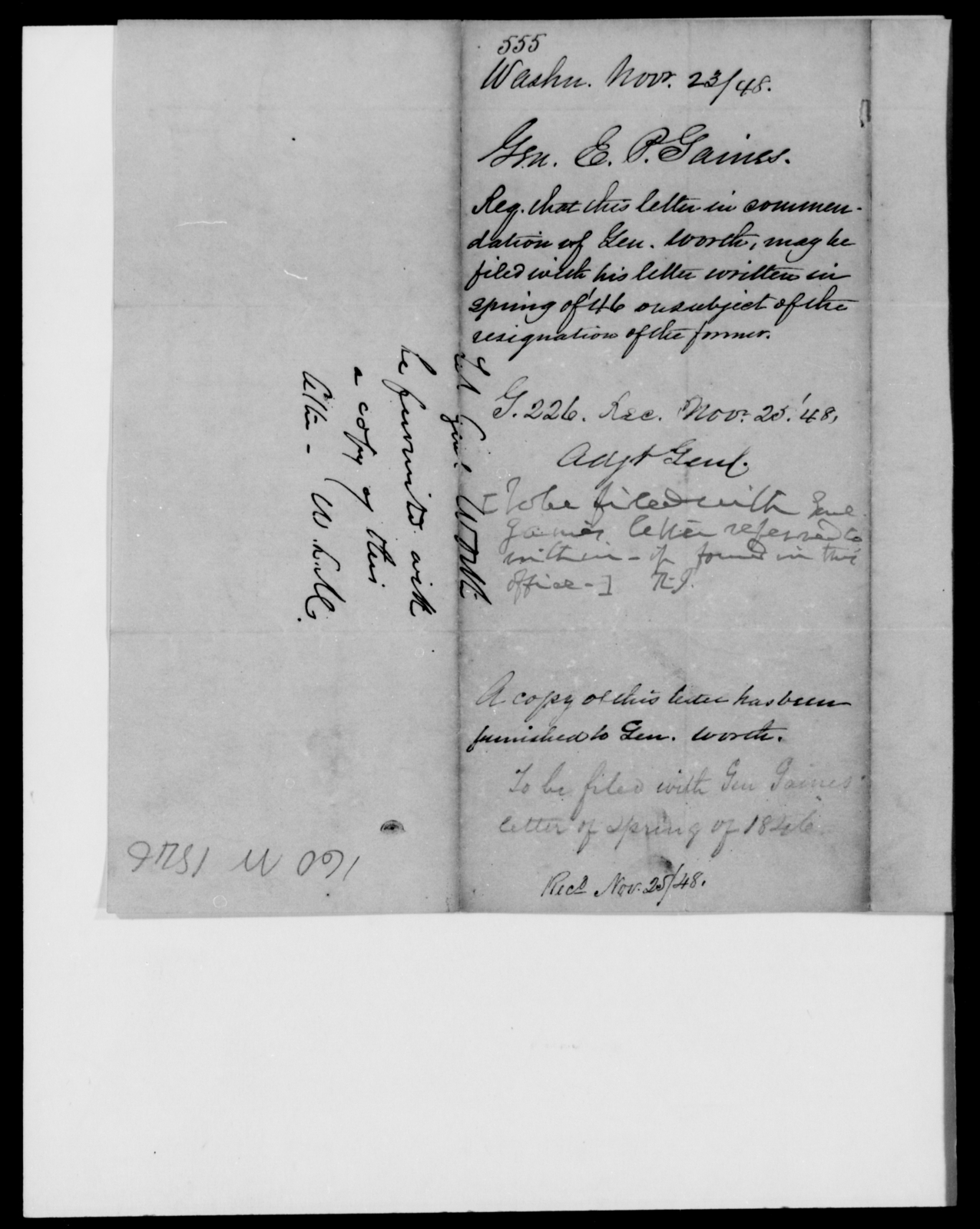 Gaines, Edmund P - State: Washington - Year: 1848 - File Number: G555